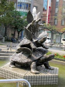 ⑤亀戸駅前公園の羽亀の噴水#
